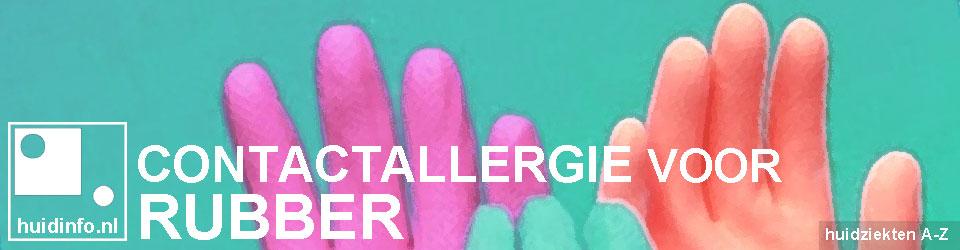 allergie voor rubber rubberallergie